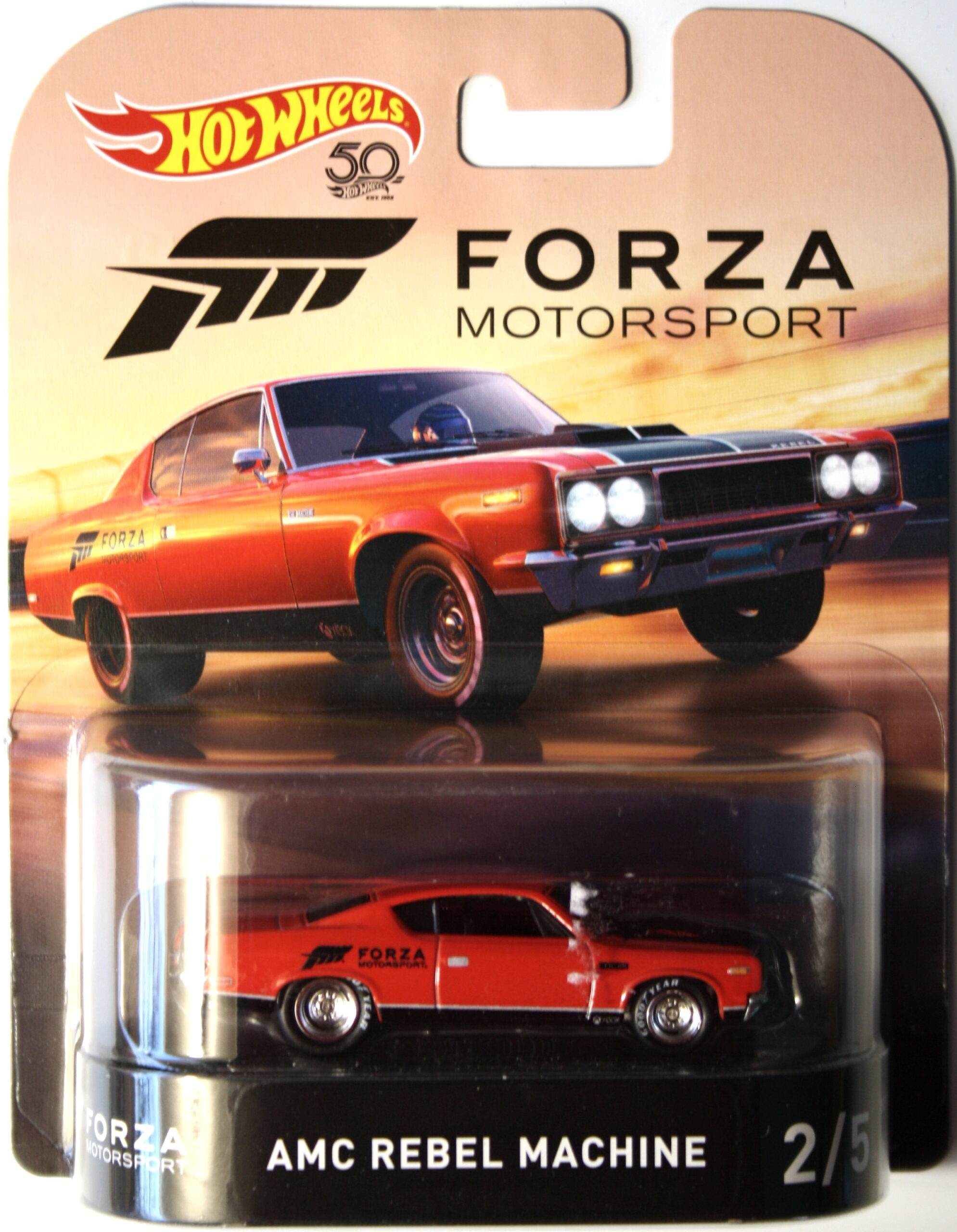Hot Wheels AMC Rebel Machine Forza Motorsport Real Riders