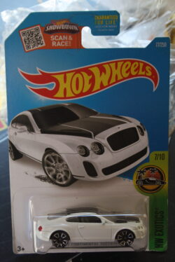 Hot Wheels Bentley continental supersports - White 1:64