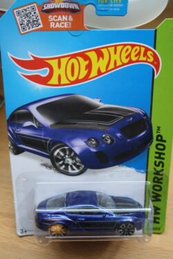 Hot Wheels Bentley continental supersports - Blue 1:64