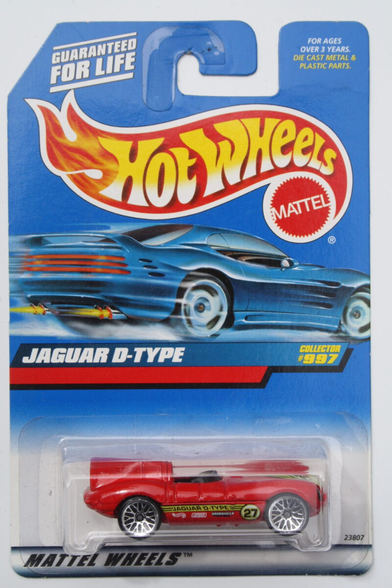 Hot Wheels Jaguar D-type - Red 1:64