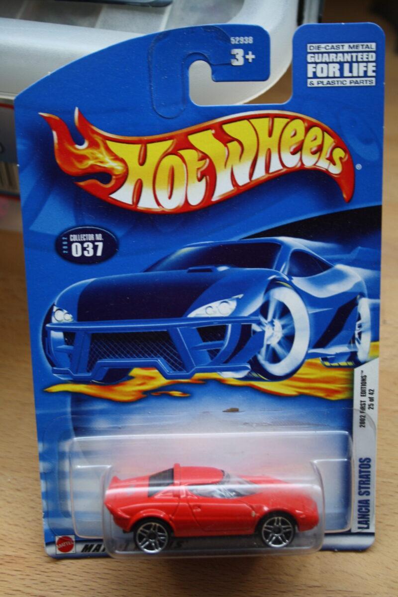 Hot Wheels Lancia  Stratos - Red 1:64