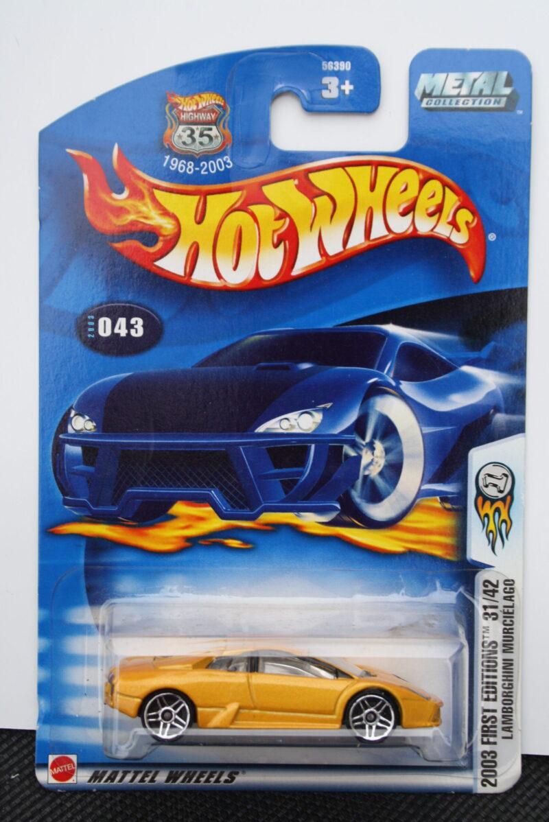 Hot Wheels Lamborghini Murcielago - Yellow 1:64