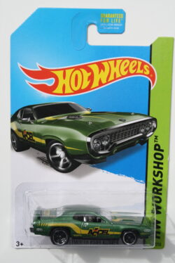 Hot Wheels Plymouth 1971 Road Runner - Green Accel 1:64