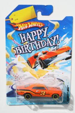 Hot Wheels Chevrolet 1968 Nova - Orange Happy Birthday 1:64