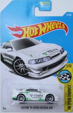 Hot Wheels Acura Custom 01 integra GSR - Tein - White 1:64