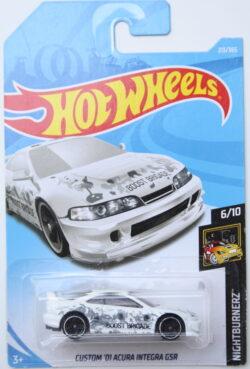 Hot Wheels Acura Custom 01 integra GSR - Boost Brigade - White 1:64