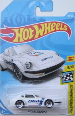 Hot Wheels Nissan Fairlady Z - GReddy - White 1:64