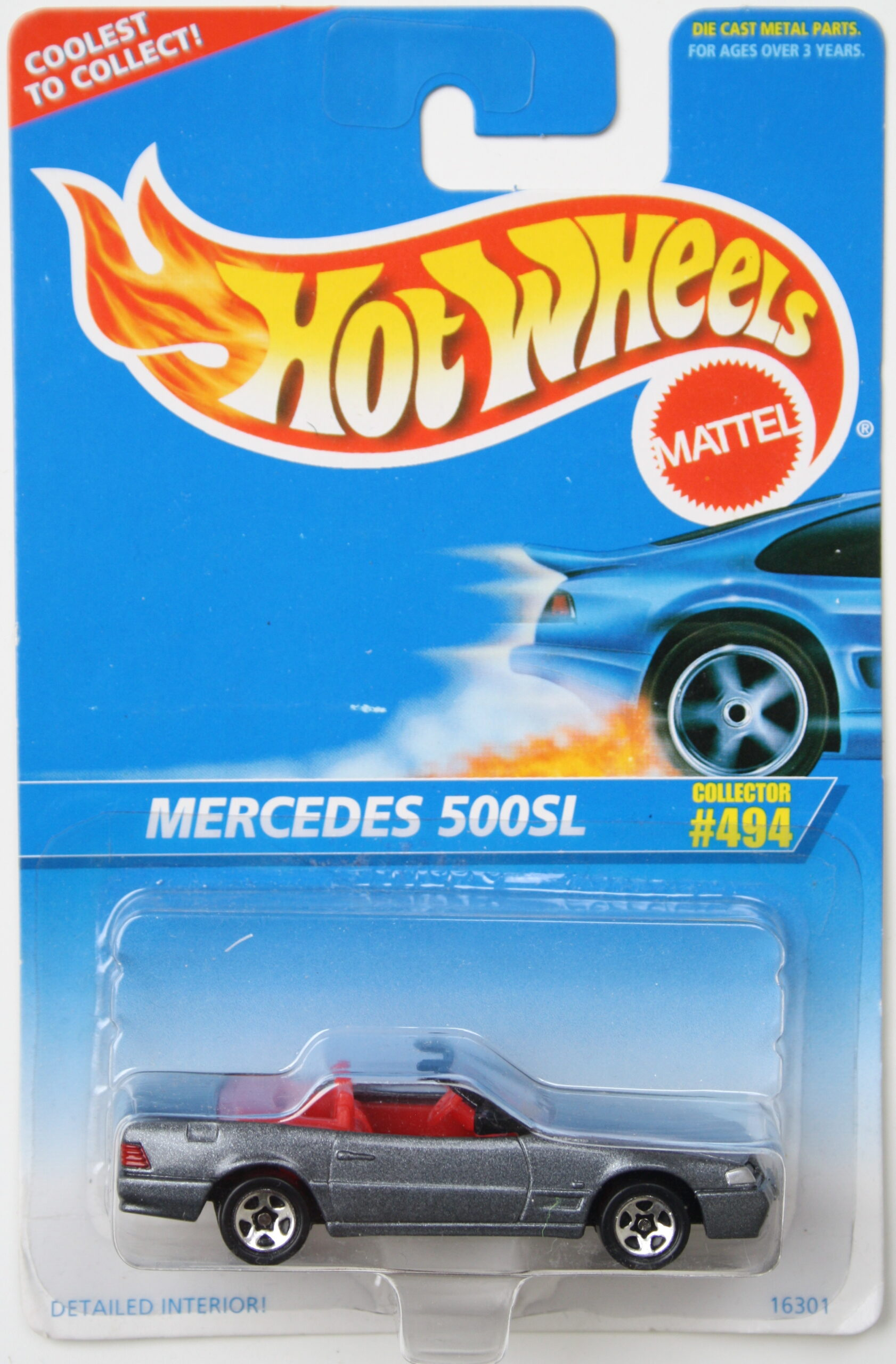 Hot Wheels Mercedes 500SL dark grey Corgi Casting