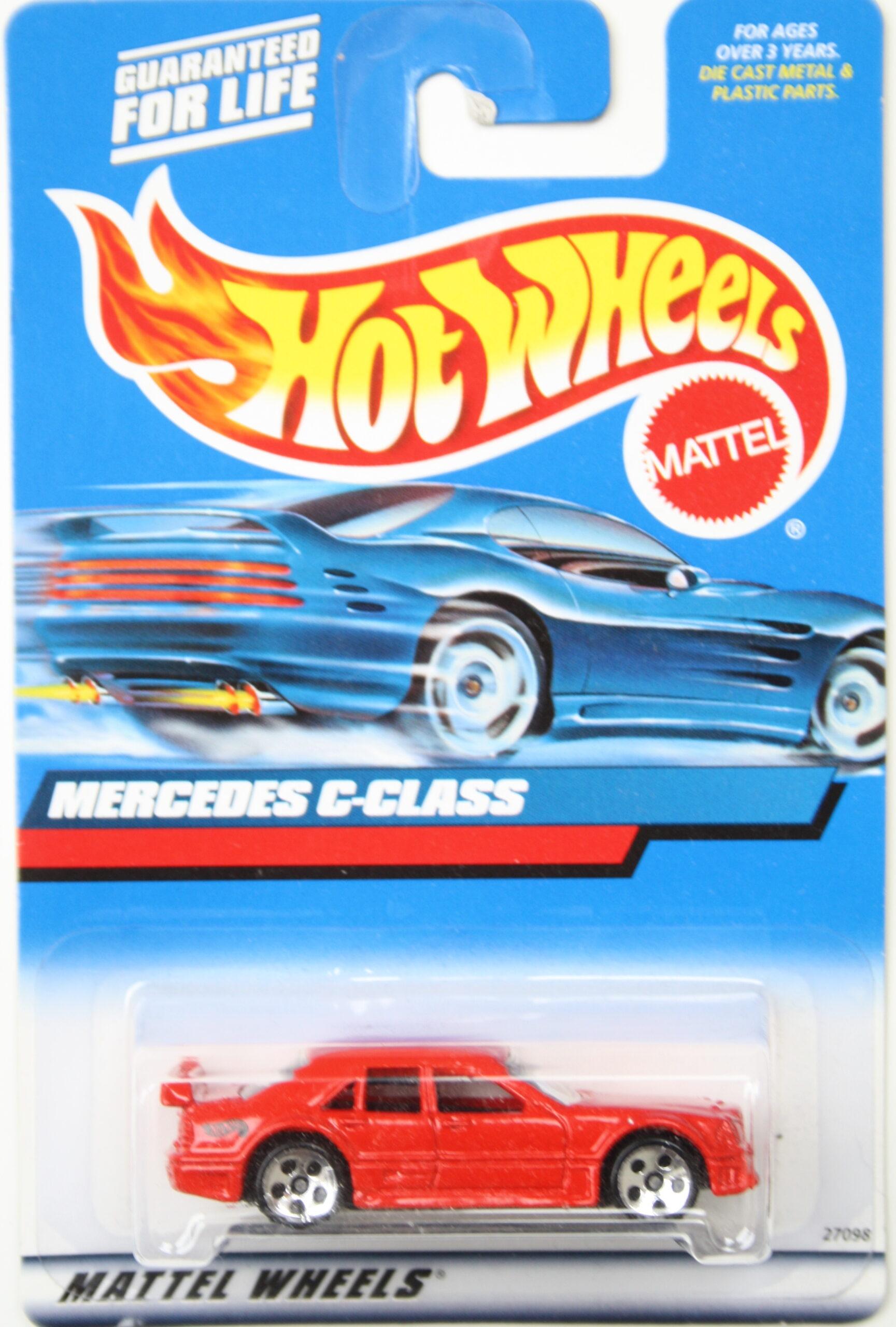 Hot Wheels Mercedes C-Class red