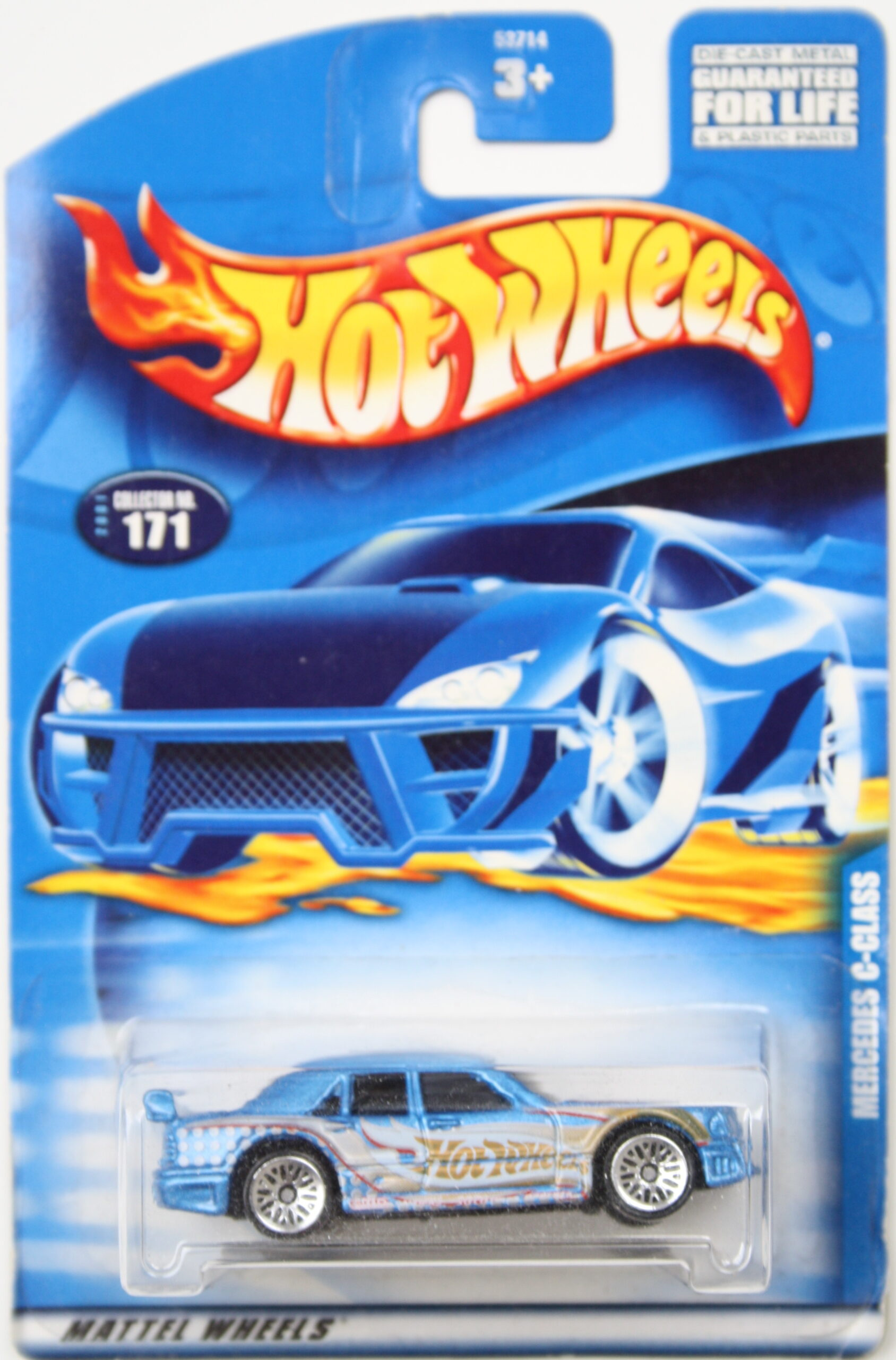 Hot Wheels Mercedes C-class Hot Wheels light blue and white