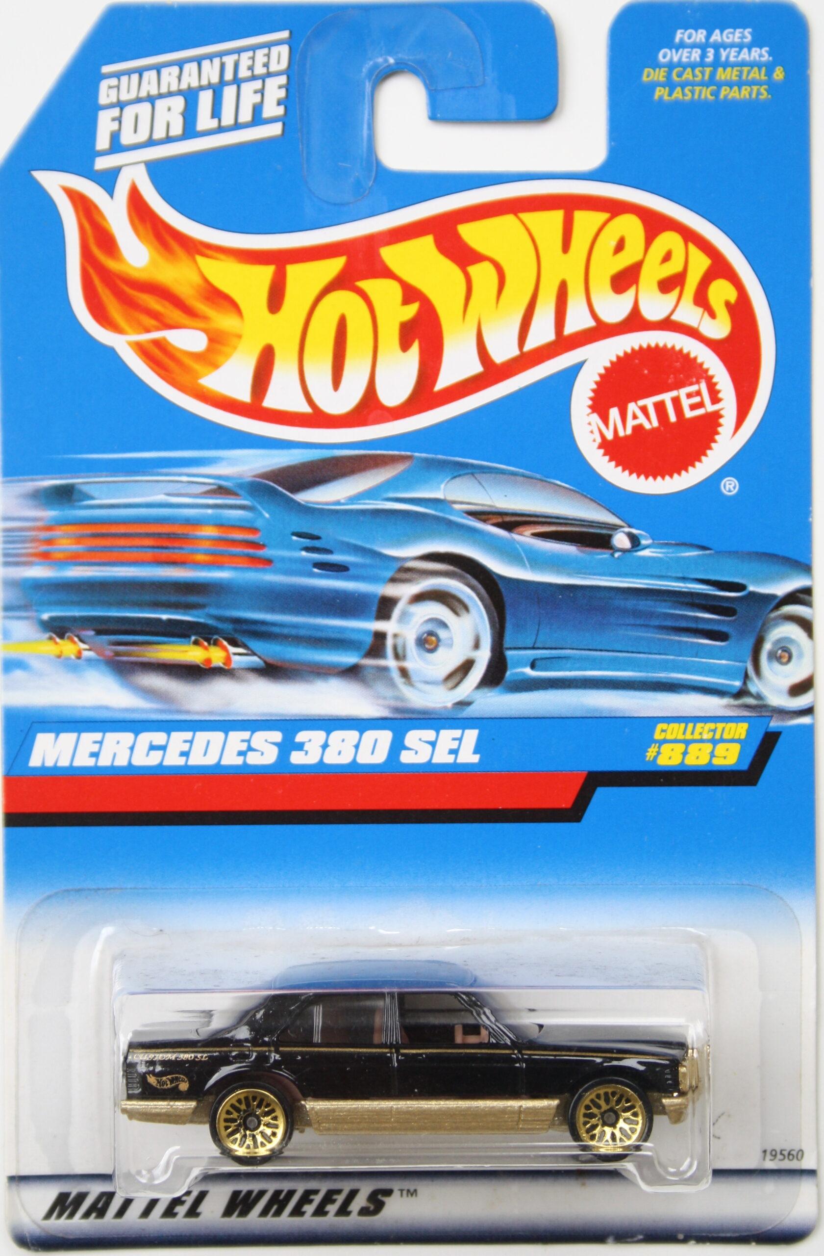 Hot Wheels Mercedes 380 SEL black