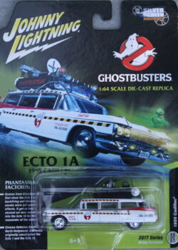 Johnny Lightning Cadillac 1959 ECTO 1A - Ghostbusters - White 1:64