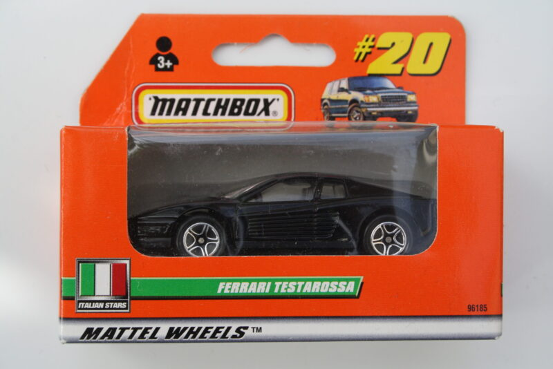 Matchbox Ferrari Testarossa - Black 1:64