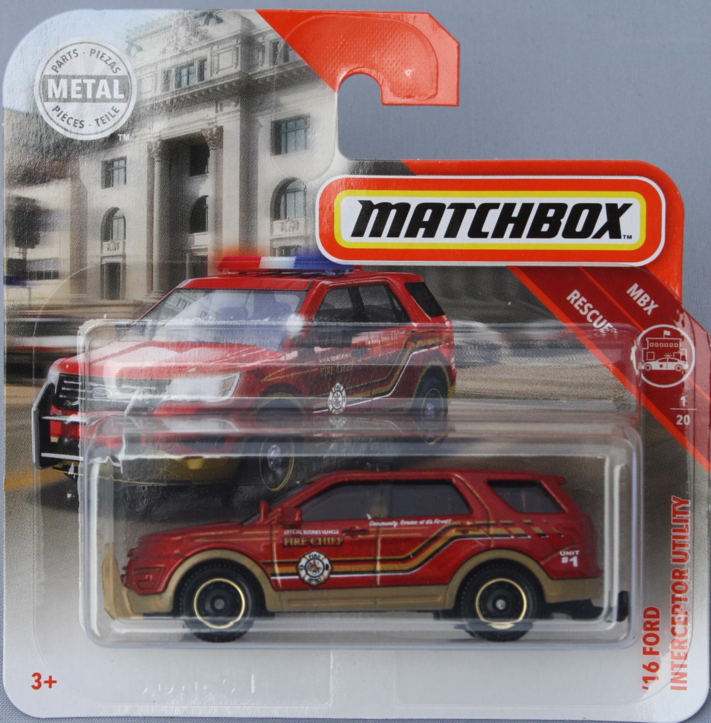 Matchbox Ford 16 Interceptor Utility - red 1:64