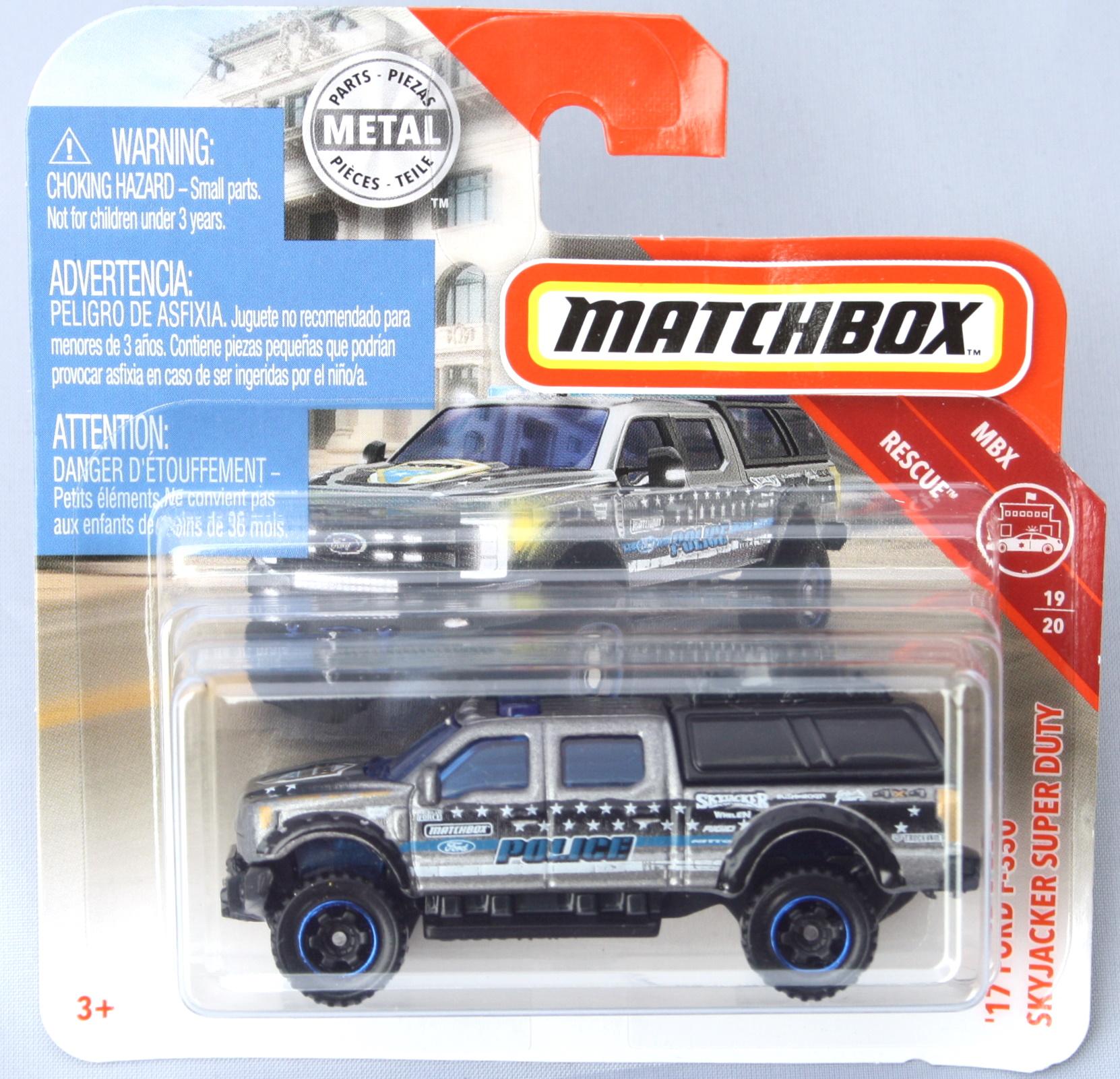 Matchbox Ford 17 F350 Skyjackers Super Duty - Police 1:64
