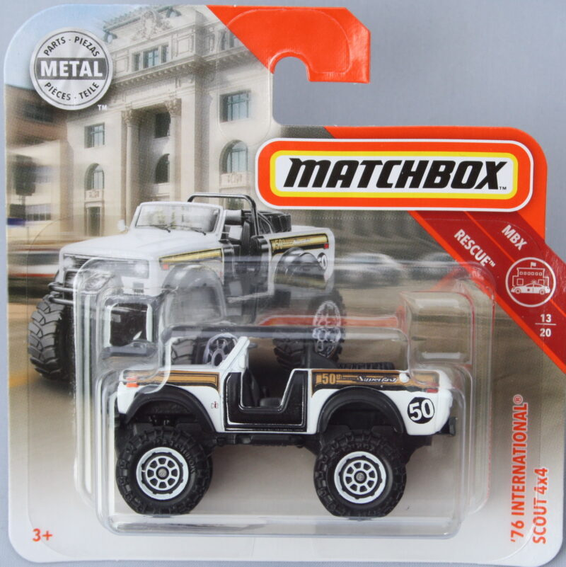 Matchbox International 76 Scout 4x4 - White 1:64
