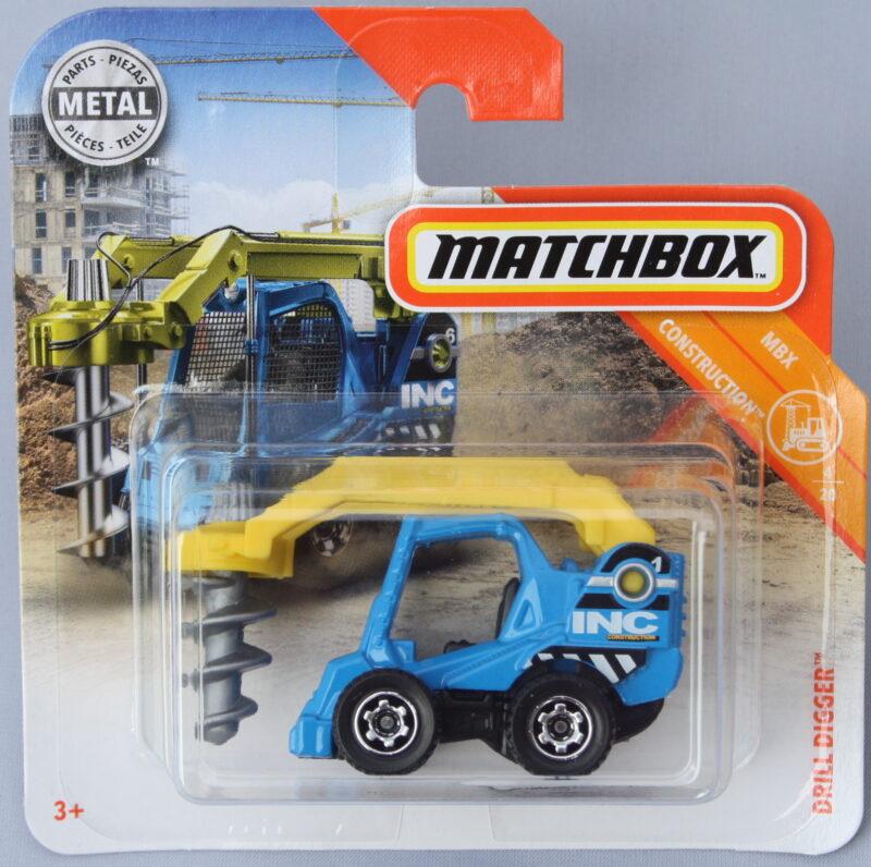 Matchbox Drill Digger Blue 1:64