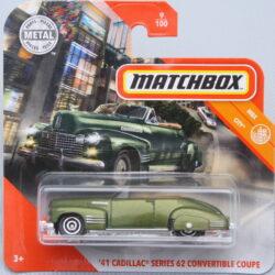 Matchbox Cadillac 41 Series 62 Convertible Coupe - Green 1:64