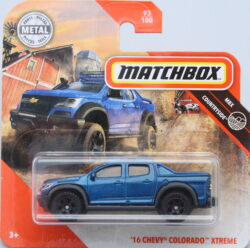 Matchbox Chevrolet 16 Colerado Xtreme - Blue 1:64