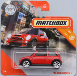Matchbox Mini 03 Cooper S - Red 1:64
