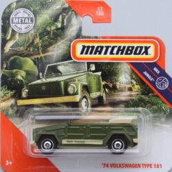 Matchbox Volkswagen 74 Type 181 - Green 1:64
