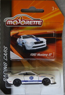 Majorette Ford  Mustang GT - No 01 - White with blue stripes