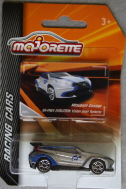 Majorette Mitsubishi XR-PHEV Evolution - Vision Gran Turismo - Grey with blue