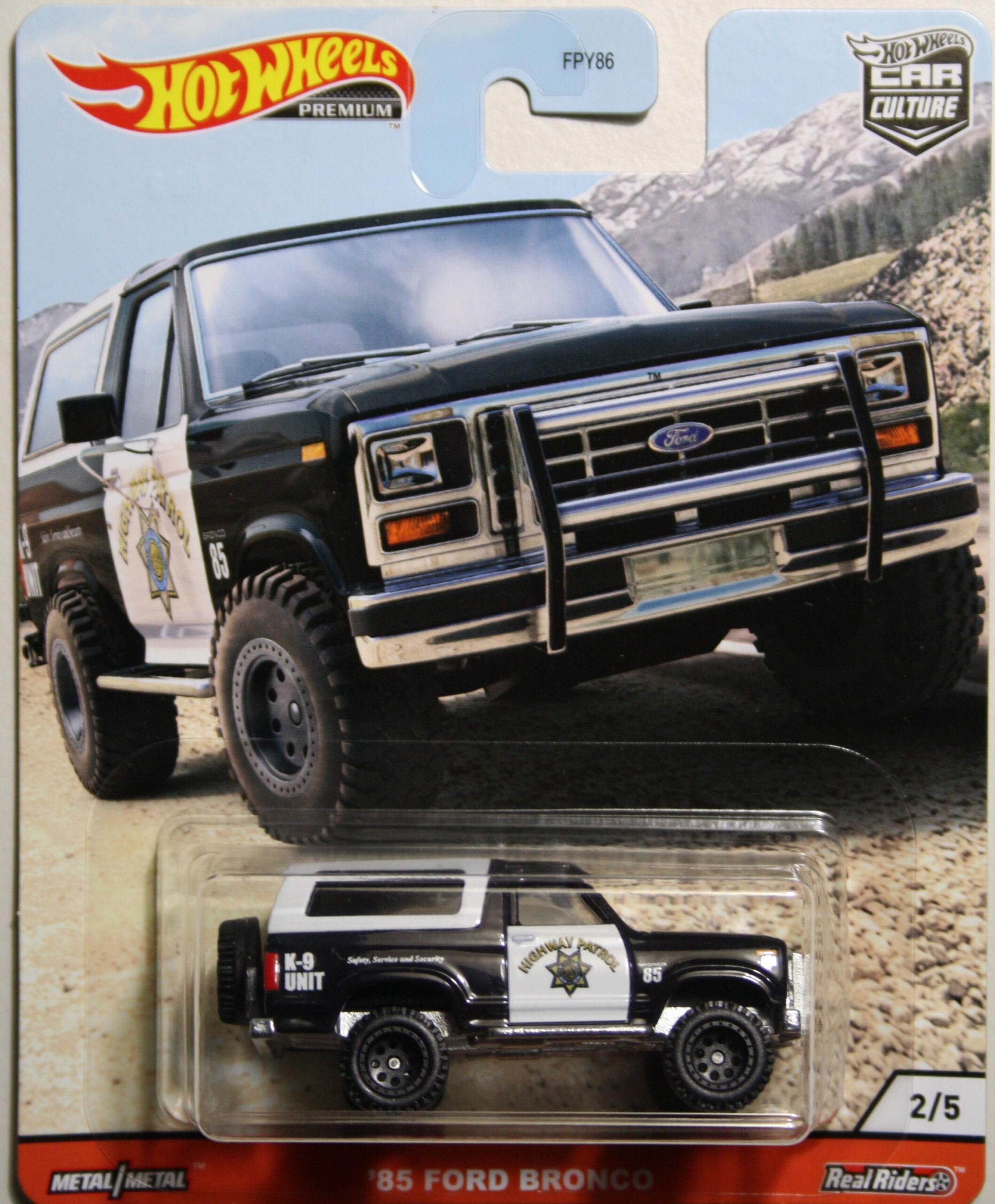 Hot Wheels Car Culture 85 Ford Bronco Highway Patrol
