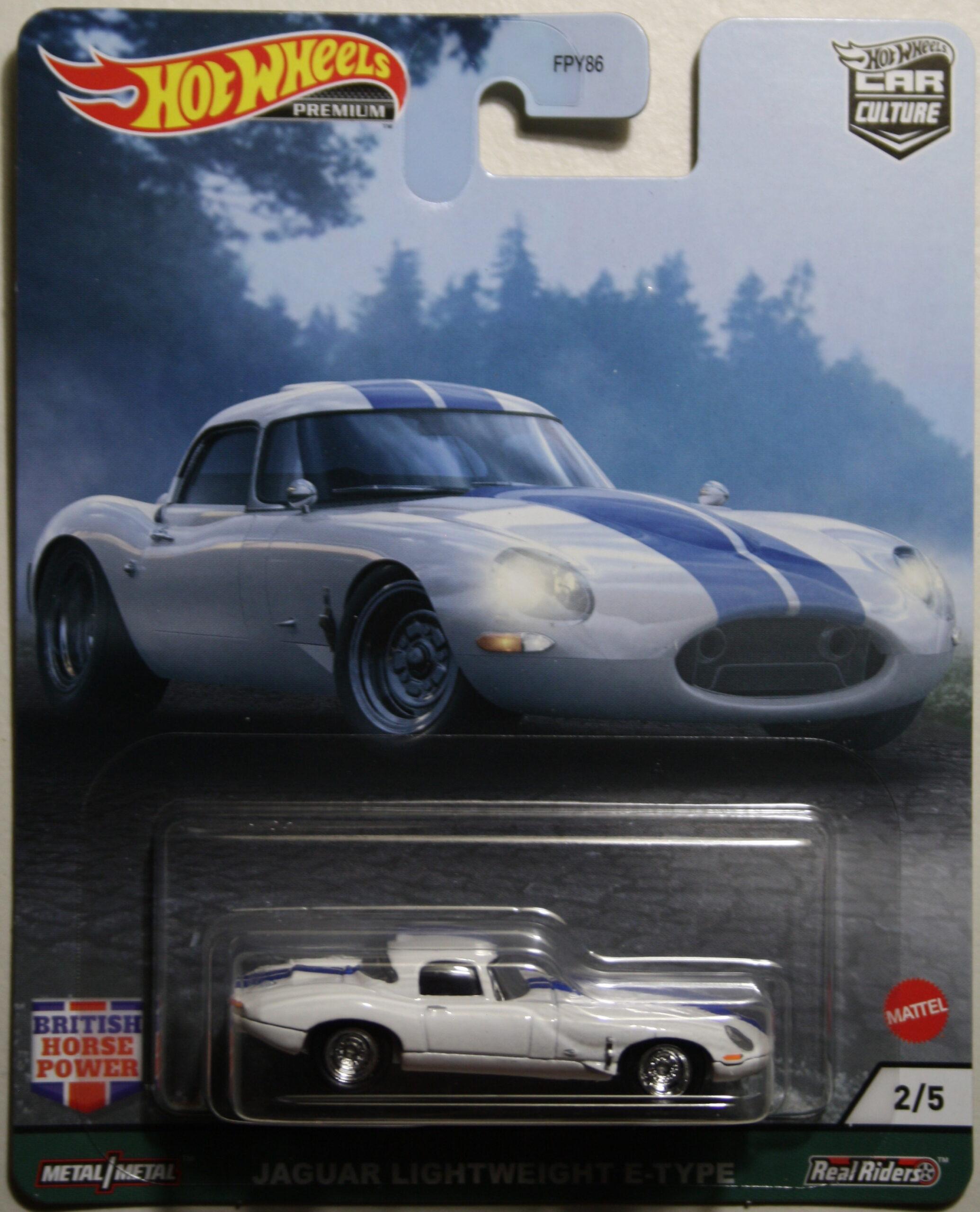Hot Wheels Car Culture Jaguar Lightweight E-type white