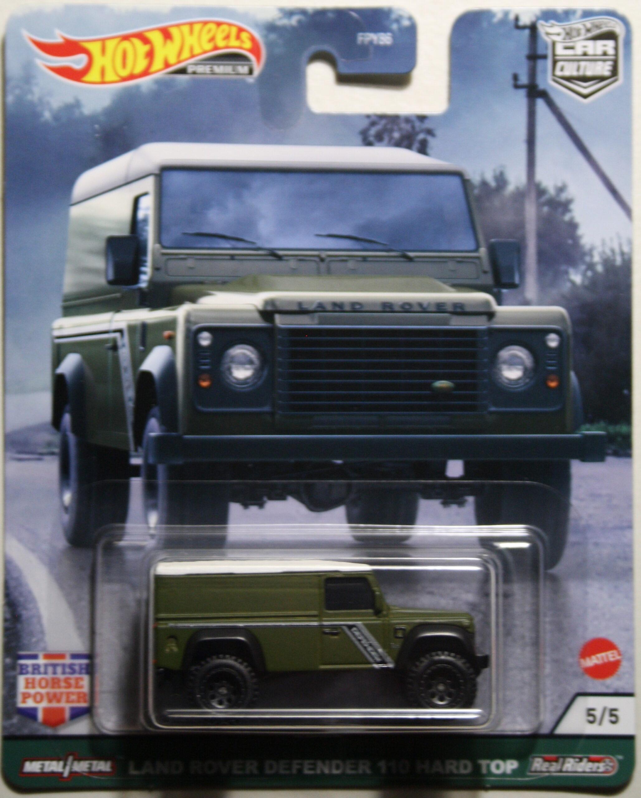 Hot Wheels Car Culture Land Rover Defender 110 Hard Top green