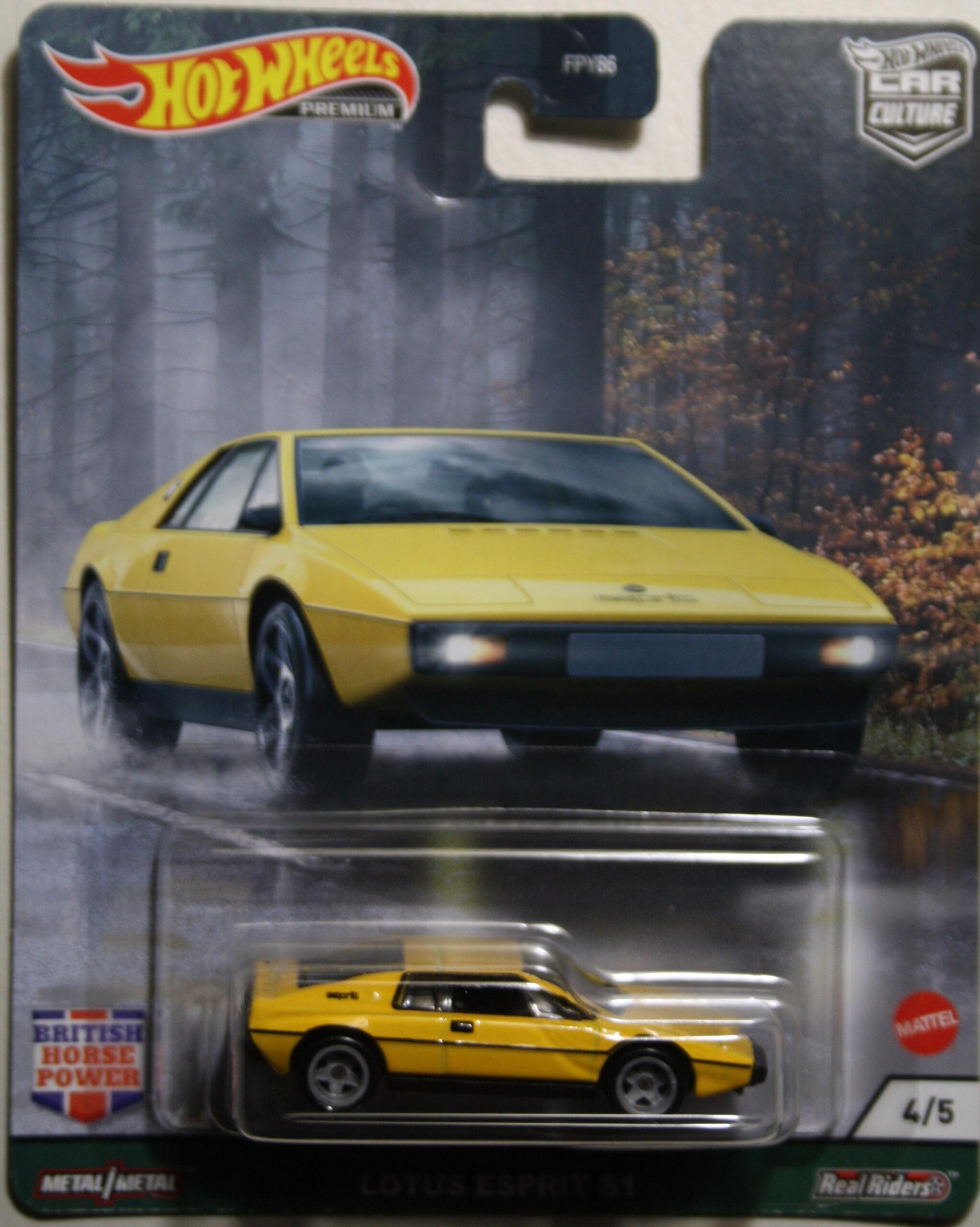 Hot Wheels Car Culture Lotus Esprit S1 yellow