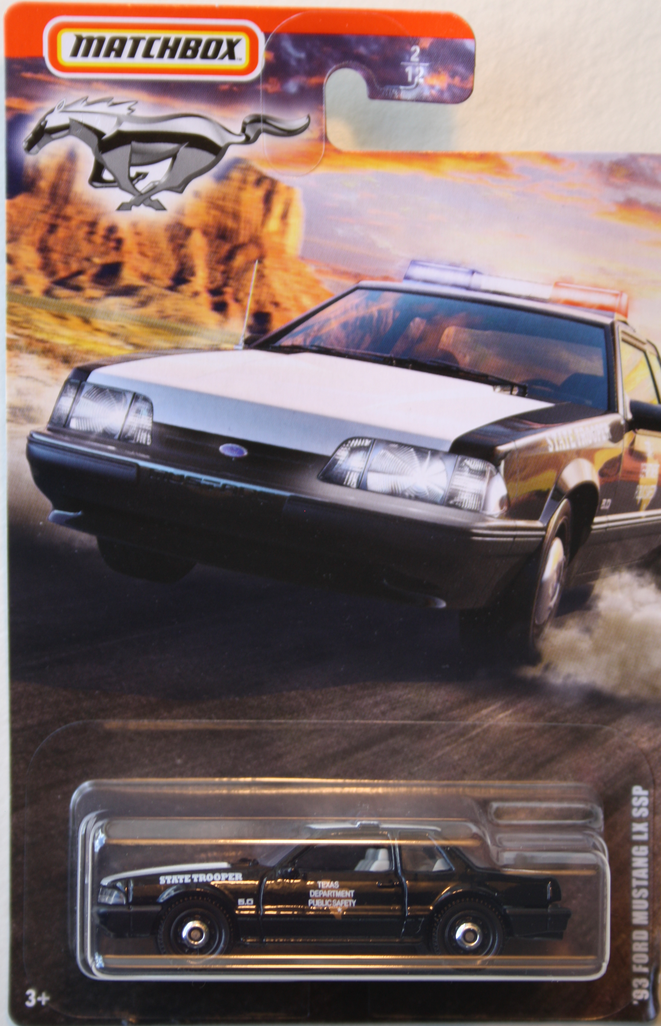 Matchbox 93 Ford Mustang LX SSP, Police