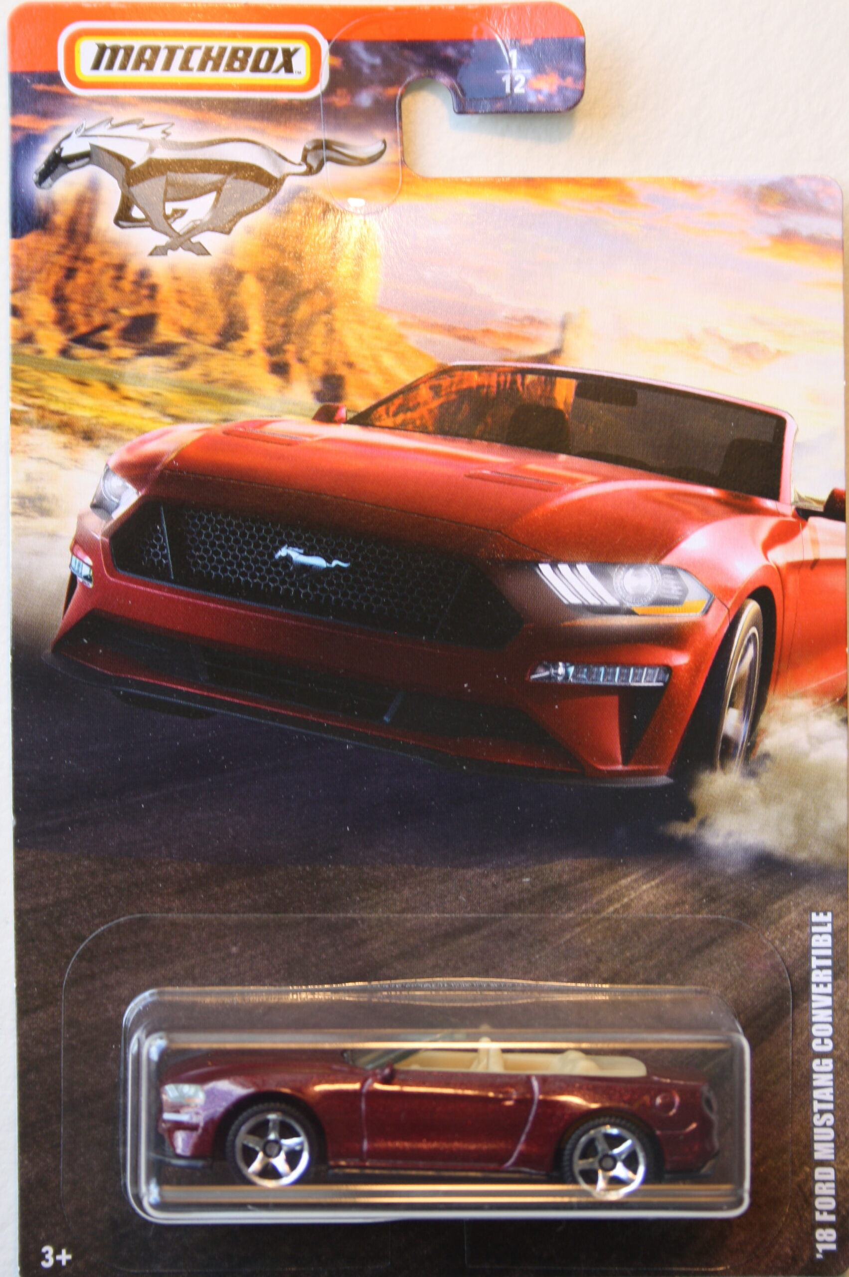 Matchbox 2018 Ford Mustang Covertible, brown