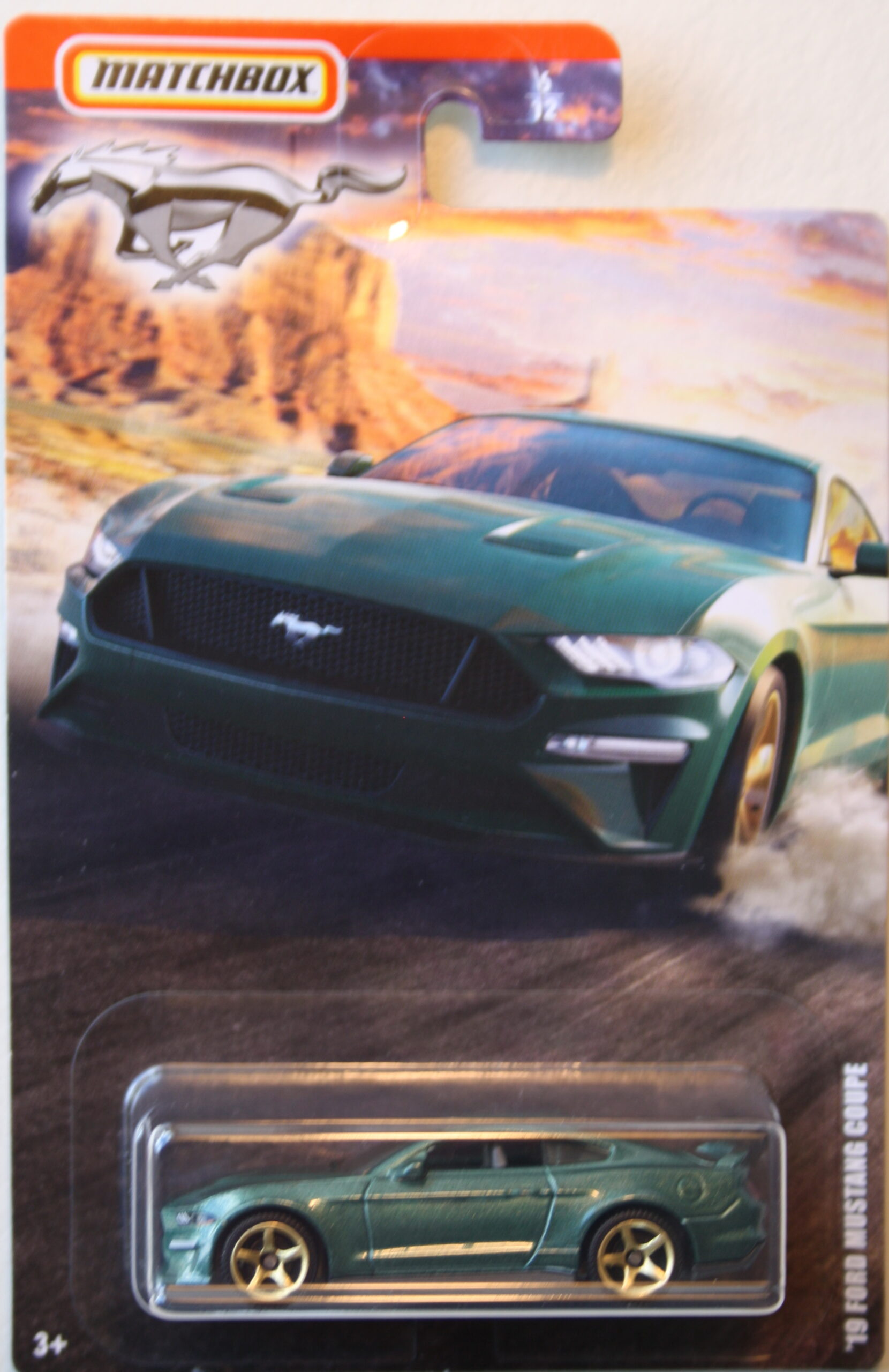 Matchbox Ford Mustang 2019 Ford Mustang Coupe green