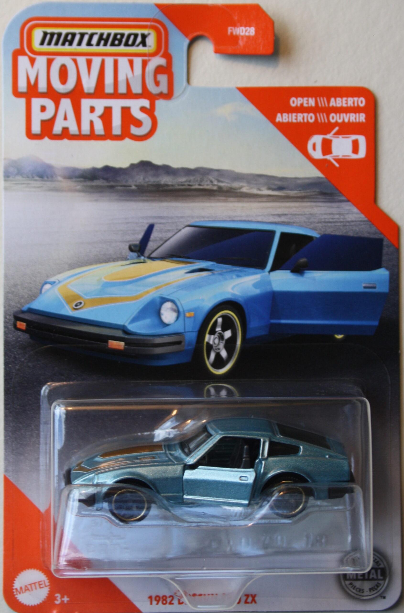 Matchbox Moving Parts, 1982 Datsun 280 ZX, blue