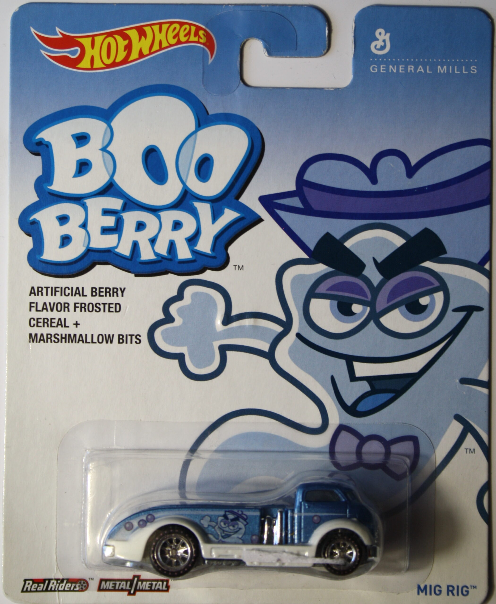 Hot Wheels Mig Rig Boo Berry Real Riders